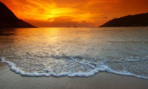 黄昏日落海上美景风光摄影高清图片