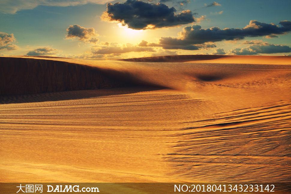 炎热天气沙漠自然风光摄影高清图片
