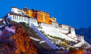 西藏布达拉宫建筑风光摄影高清图片