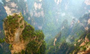 山间独特地貌自然风光摄影高清图片
