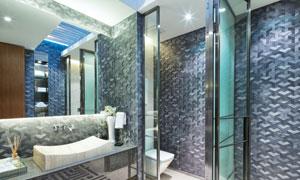 高档豪华装修风格的卫生间高清图片