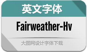 Fairweather-Heavy(英文字体)