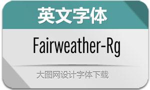 Fairweather-Regular(英文字体)
