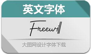 Freewill(英文字体)