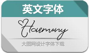 Harmony系列四款英文字体