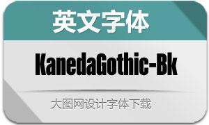 KanedaGothic-Black(英文字体)