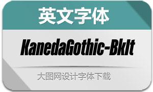KanedaGothic-BlackIt(英文字体)