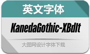KanedaGothic-ExtraBdIt(英文字体)