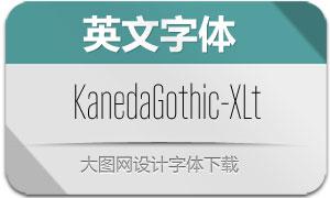KanedaGothic-ExtraLt(英文字体)