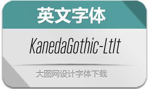 KanedaGothic-LightIt(英文字体)