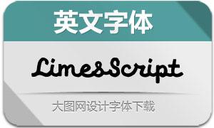 LimesScript(英文字体)