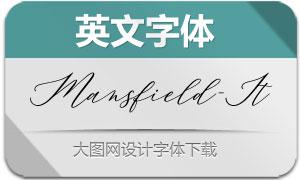 Mansfield-Italic(英文字体)