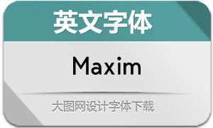 Maxim(英文字体)