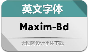 Maxim-Bold(英文字体)