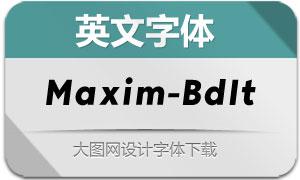 Maxim-BoldItalic(英文字体)