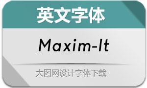 Maxim-Italic(英文字体)