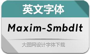 Maxim-SemiboldItalic(英文字体)