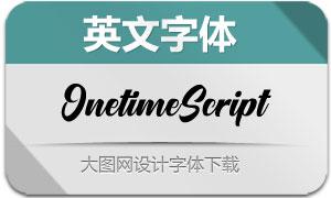 OnetimeScript(英文字体)