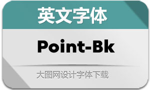 Point-Black(英文字体)