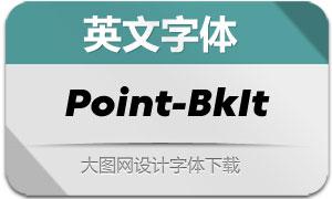 Point-BlackItalic(英文字体)