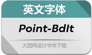 Point-BoldItalic(英文字体)