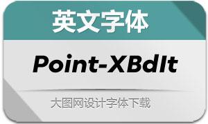 Point-ExtraBoldItalic(英文字体)