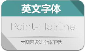 Point-Hairline(英文字体)
