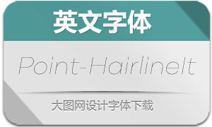 Point-HairlineItalic(英文字体)