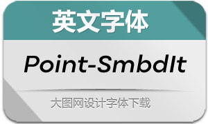 Point-SemiBoldItalic(英文字体)