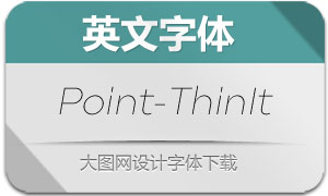 Point-ThinItalic(英文字体)