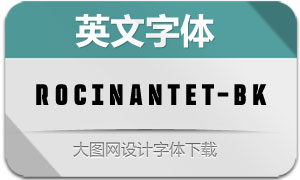 RocinanteTitling-Black(英文字体)