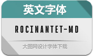 RocinanteTitling-Med(英文字体)