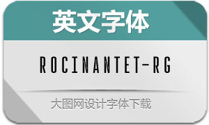 RocinanteTitling-Regular(英文字体)