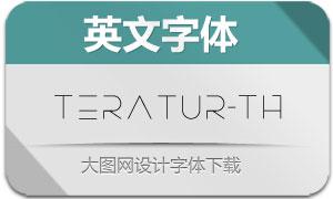 Teratur-Thin(英文字体)