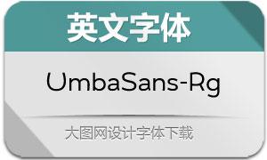 UmbaSans-Regular(英文字体)