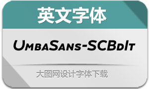 UmbaSans-SCBoldItalic(英文字体)