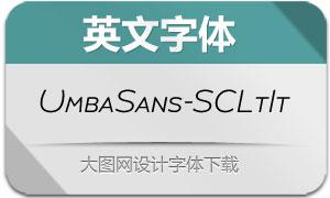 UmbaSans-SCLightIt(英文字体)