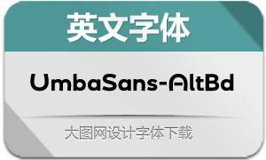 UmbaSans-AltBold(英文字体)