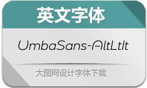 UmbaSans-AltLightItalic(英文字体)