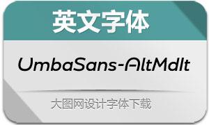 UmbaSans-AltMediumIt(英文字体)