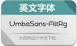 UmbaSans-AltRegular(英文字体)