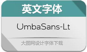 UmbaSans-Light(英文字体)