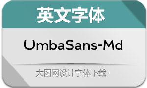 UmbaSans-Medium(英文字体)