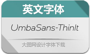 UmbaSans-ThinItalic(英文字体)