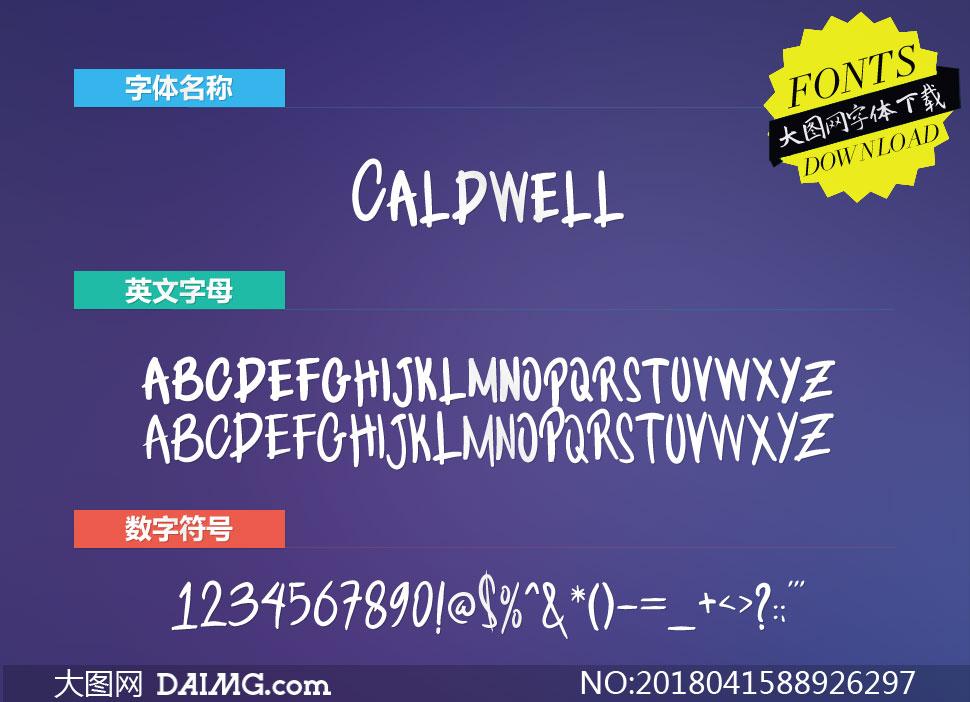 Caldwell(英文字体)