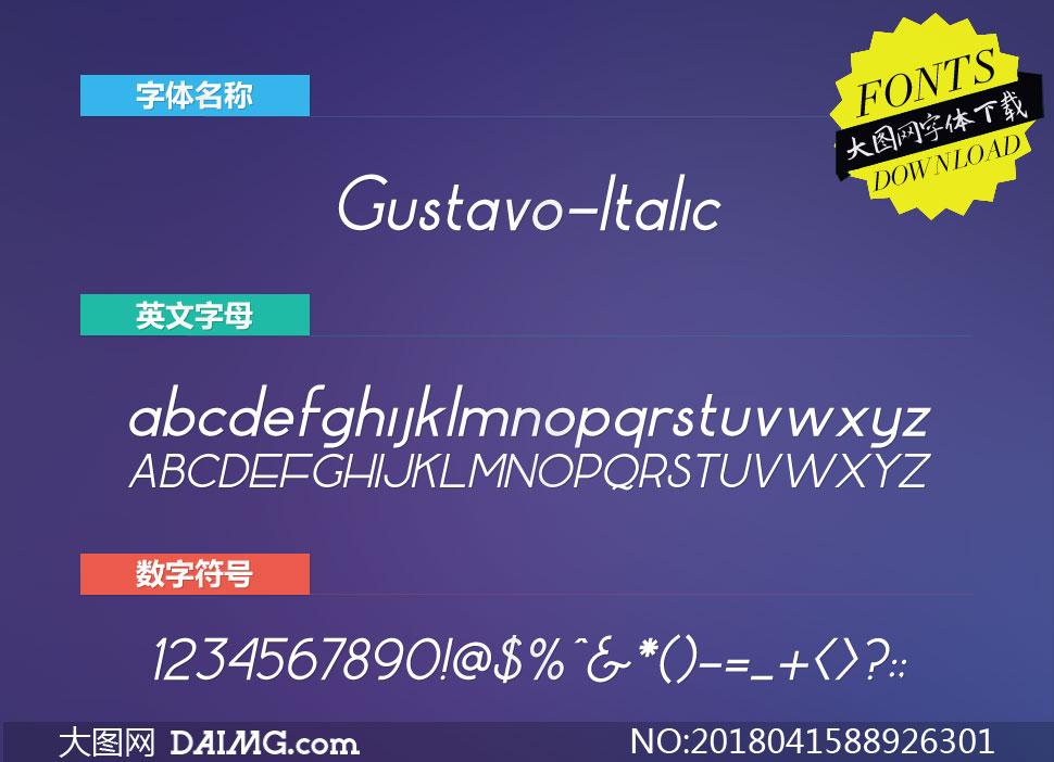 Gustavo-Italic(英文字体)