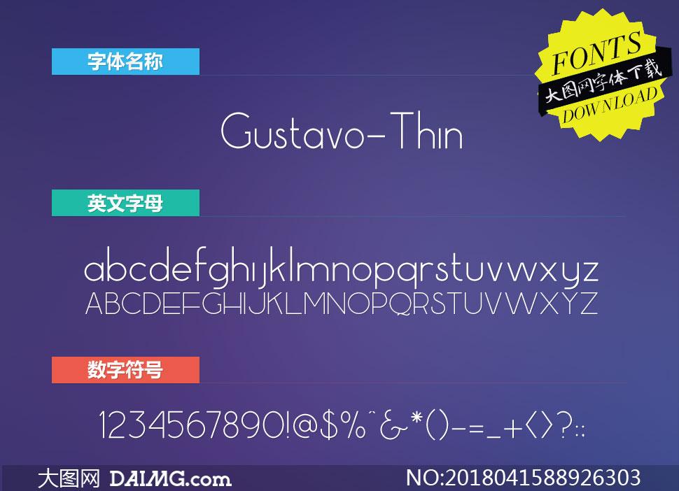 Gustavo-Thin(英文字体)