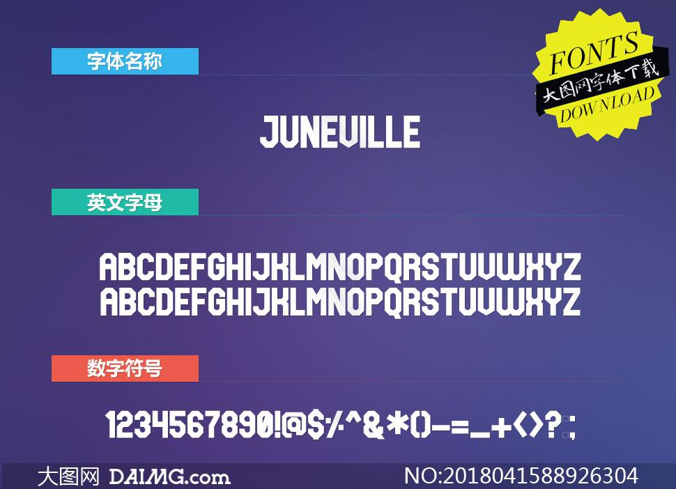 Juneville(英文字体)