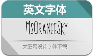 MsOrangeSky(英文字体)