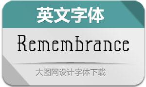 Remembrance(英文字体)